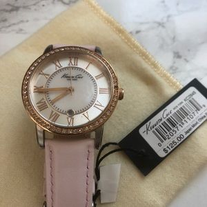 Kenneth Cole pearl and pink watch
